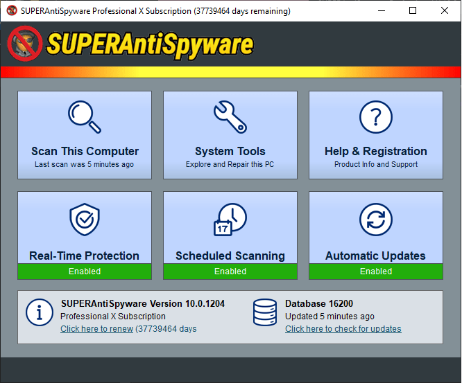 SUPERAntiSpyware Professional X 10 Crack