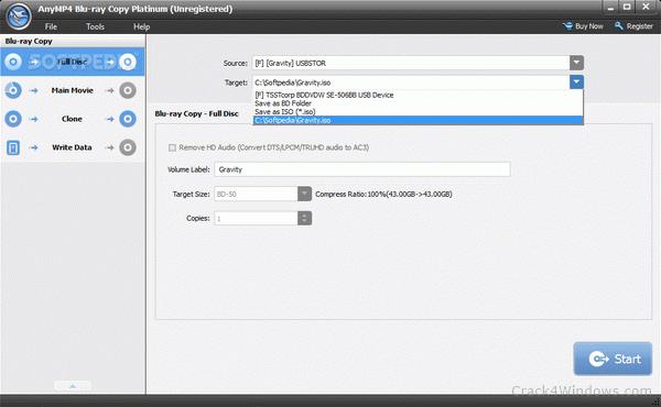 AnyMP4 Blu-ray Copy Platinum 7.2.87 Crack Key Latest Download